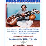 Indisches Musikfestival -Sri Tyagaraja Aradhana - 04.Mai.2008
